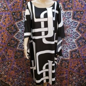 "INC batwing midi smock ""Botanica"" dress size 3X"
